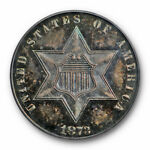 1873 3CS THREE CENT SILVER PCGS PR 63 CAC APPROVED KEY DATE PROOF ONLY