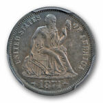 1874 10C PROOF  LIBERTY SEATED DIME PCGS PR 58 WITH ARROWS