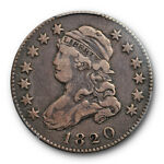 1820 25C LARGE 0 CAPPED BUST QUARTER PCGS VF 20 FINE US TYPE COIN