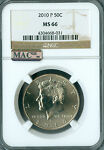 2010 P KENNEDY HALF DOLLAR NGC MAC MS 66 PQ SPOTLESS