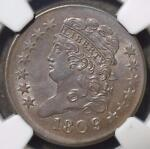 1809/6 NGC MS63 HALF CENT 1/2C CLASSIC HEAD  <50 MS EST. CHOICE UNCIRCULATED