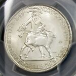 1938 NEW ROCHELLE HALF DOLLAR   PCGS MS66   CAC APPROVED COMMEMORATIVE SILVER