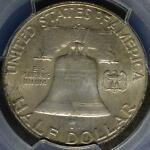 1949 D PCGS MS65 FBL FRANKLIN HALF DOLLAR FULL BELL 90  SILVER COIN 4 SHIPS FREE