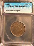 1835 CLASSIC HEAD HALF CENT ICG EF40 DETAILS LOW MINTAGE  DESIRABLE COIN