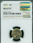 1977 ROOSEVELT DIME NGC MAC MS67 FT PQ POP 2 LY  FINEST REGISTRY