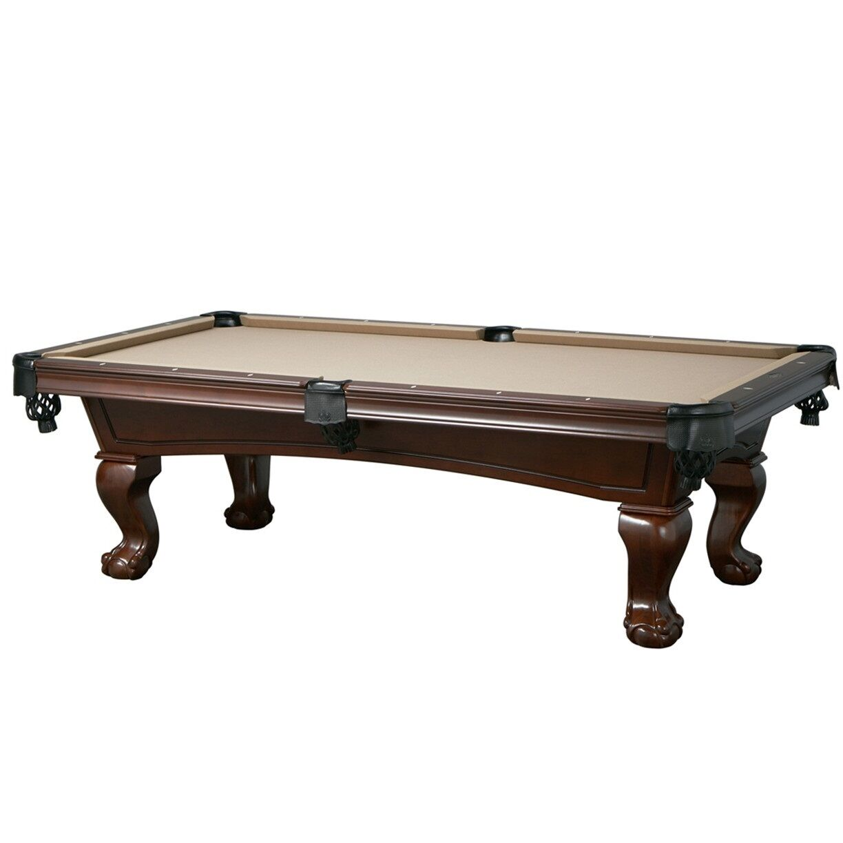 Lincoln 7' Slate Pool Table with Antique Walnut Finish for Billiards