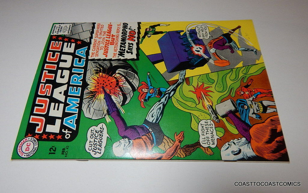 JUSTICE LEAGUE OF AMERICA #42  NM + 9.6 MURPHY ANDERSON  METAMORPHO 2/66 not CGC