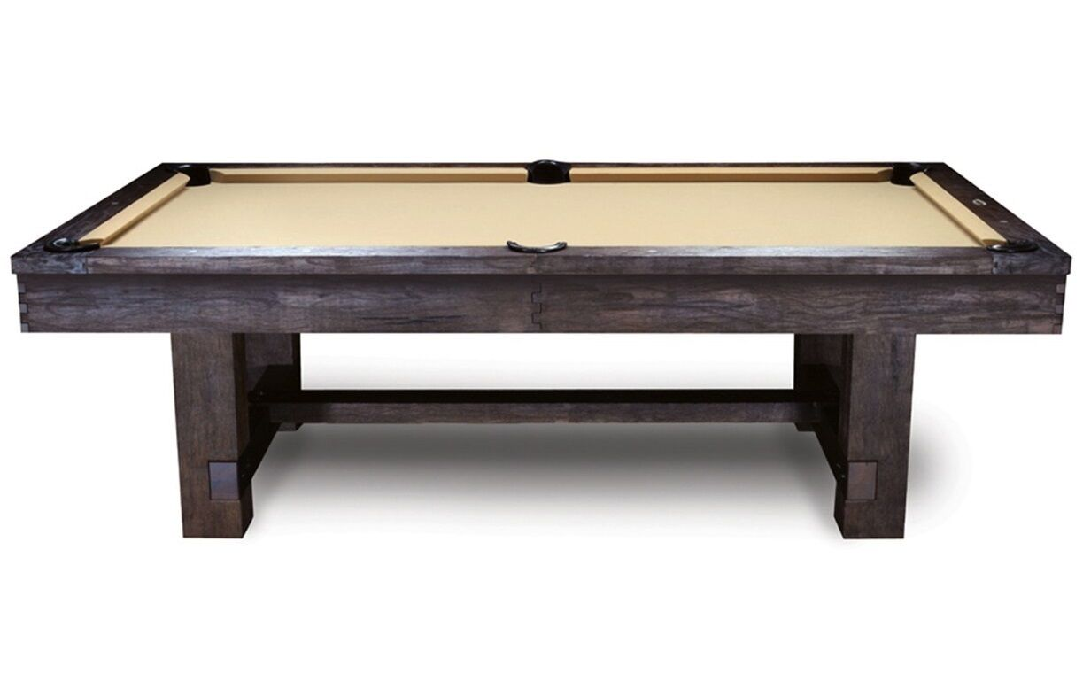 8' Reno Slate Pool Table with Rustic Antique Walnut Finish
