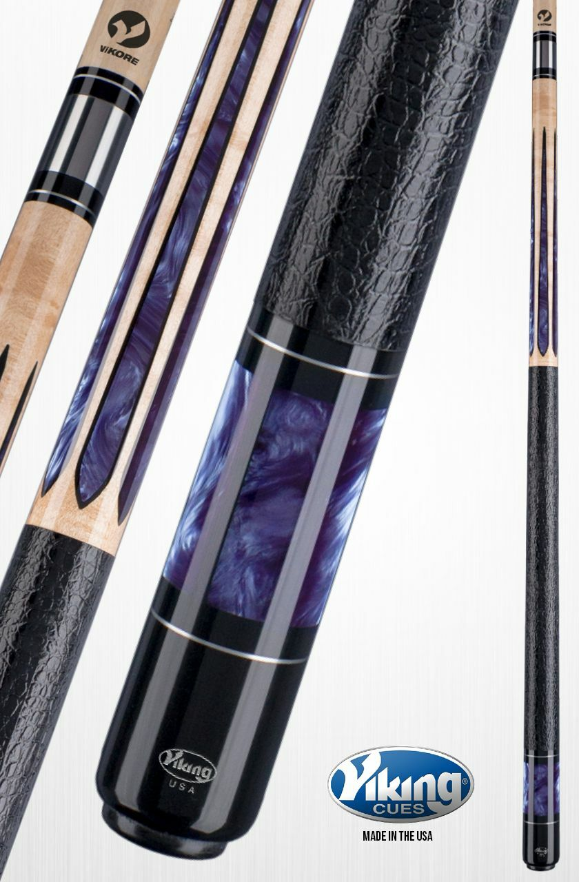 Viking A574 Purple Pearl Inlays Pool Cue w/ ViKORE Shaft and FREE shipping