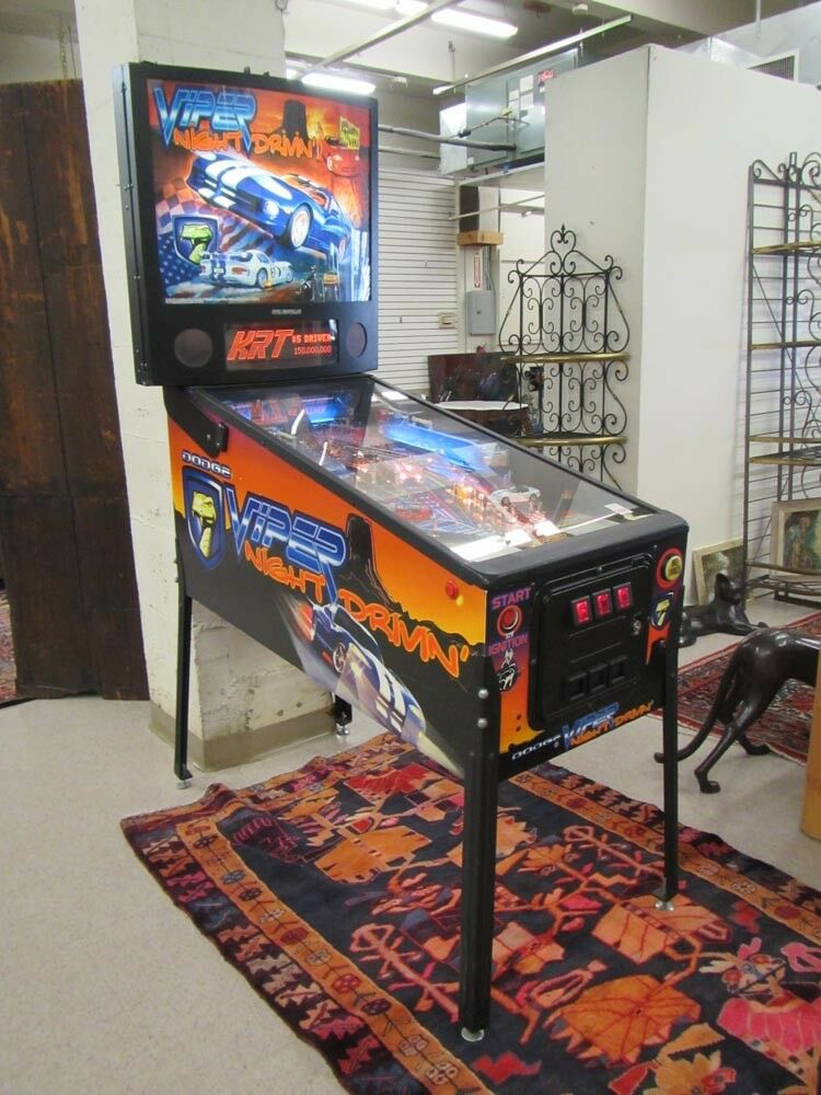 SEGA VIPER NIGHT DRIVIN' PINBALL MACHINE, Sega Pin Lot 228