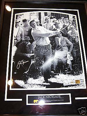 JACK NICKLAUS SIGNED AUTO 16X20 FRAMED THROWBACK PHOTO STEINER CERT VERY RARE