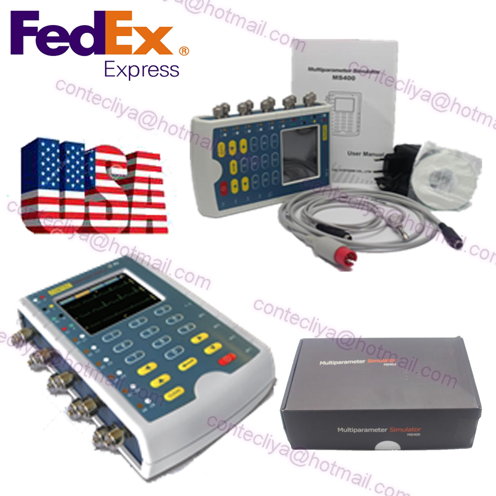 USA Stock Contec New Brand MS400 Multi-parameter Patient Simulator,ECG Simulator