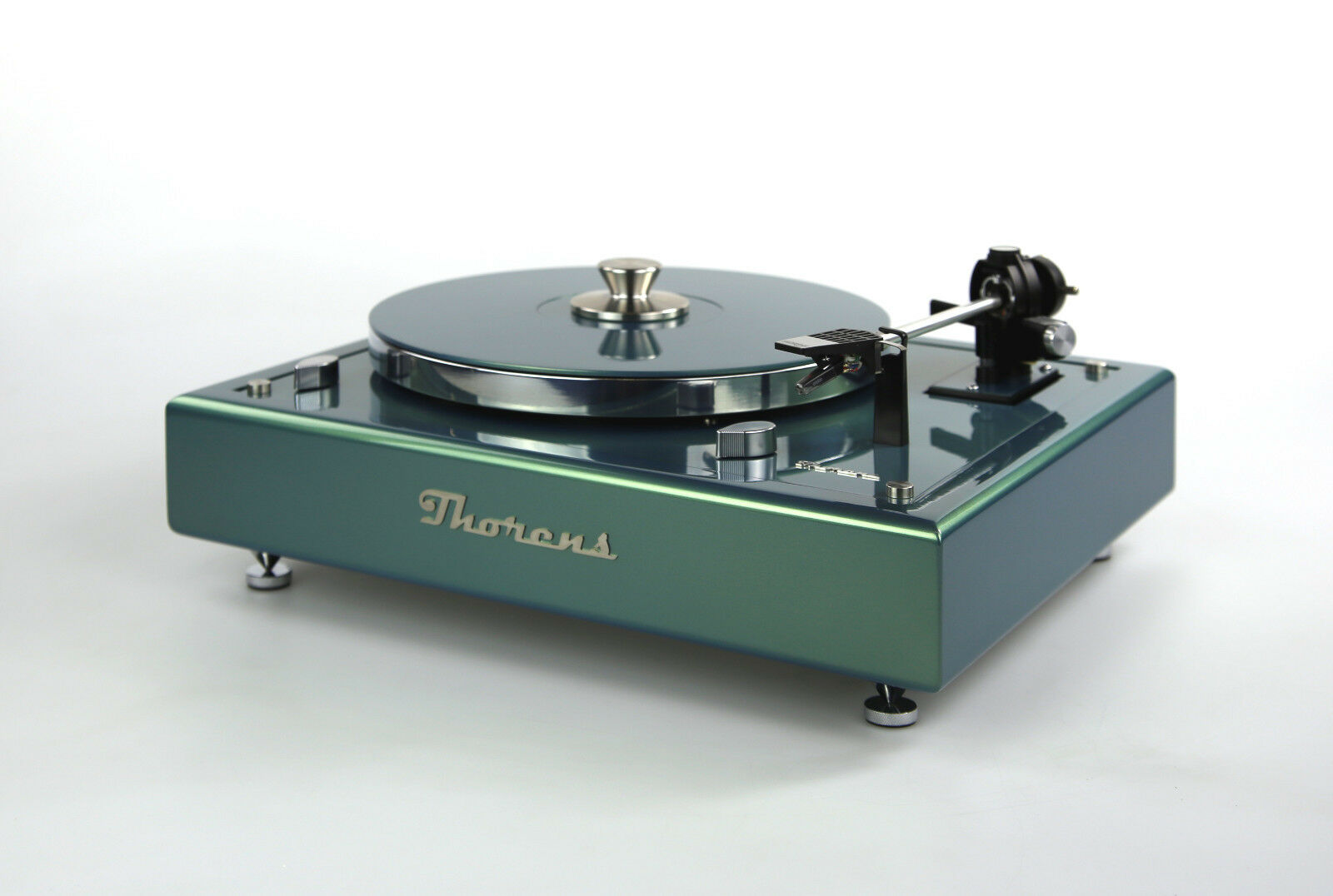 Restored Thorens TD145 Turntable Limited Edition Flight Green Metallic
