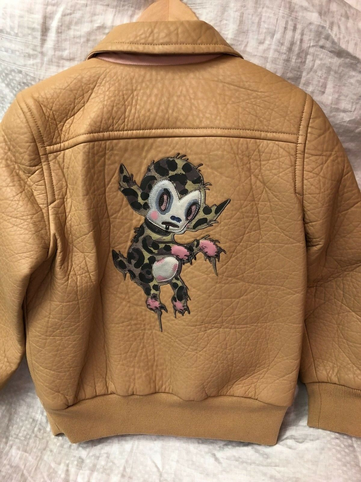 Coach Women's Limited Edition Rare Gary Baseman Leather Jacket Small $1,895,00