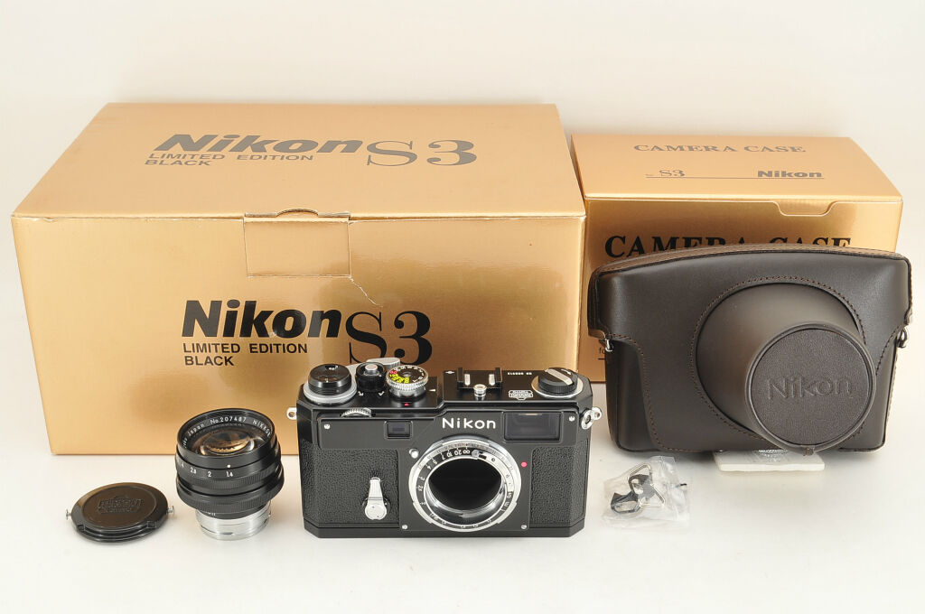 *NEAR MINT* Nikon S3 YEAR 2000 Limited Black w/ 50mm f/1.4 from Japan #1223