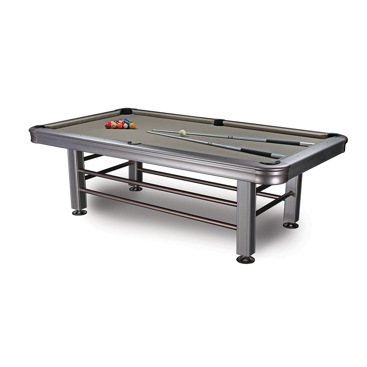 8' Tropicana Outdoor Pool Table - Accessories Included