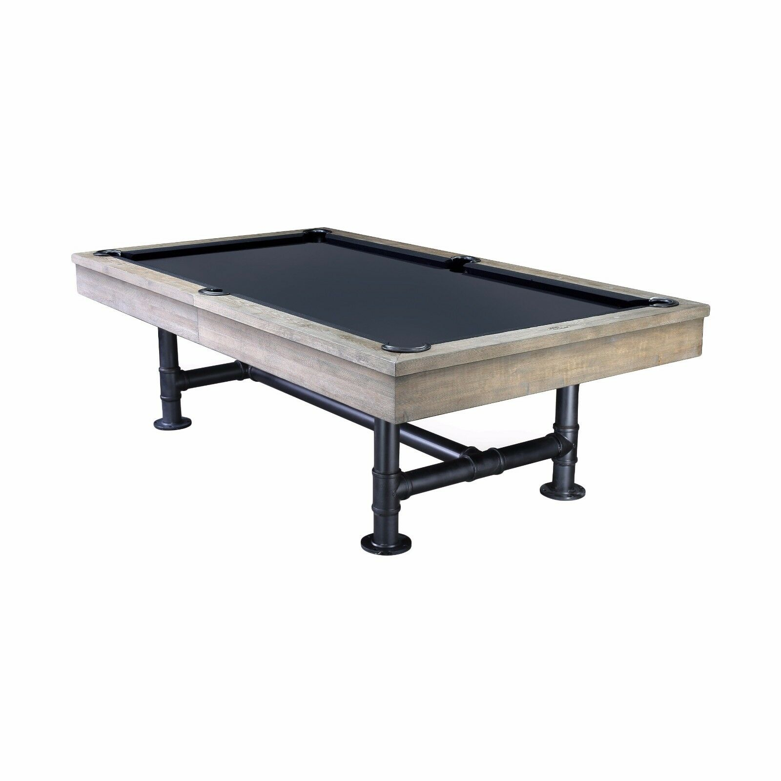 8' Bedford Slate Pool Table with Weathered Oak Finish - Dining Top Included