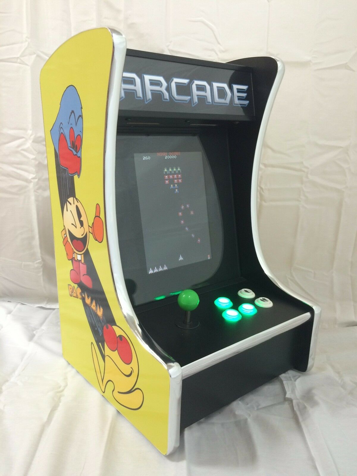 New Ms PacMan Galaga Mini Upright Arcade Game Multicade Bar Top 60 games