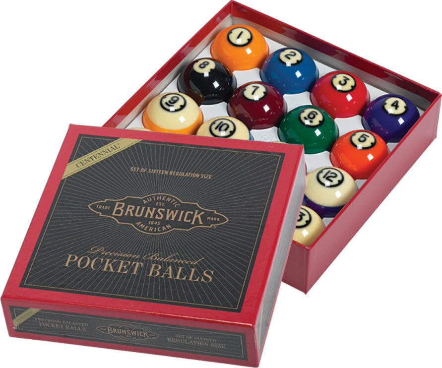 Brunswick Centennial Pool Ball Set Billiards Balls Complete Sets FREE Shipping