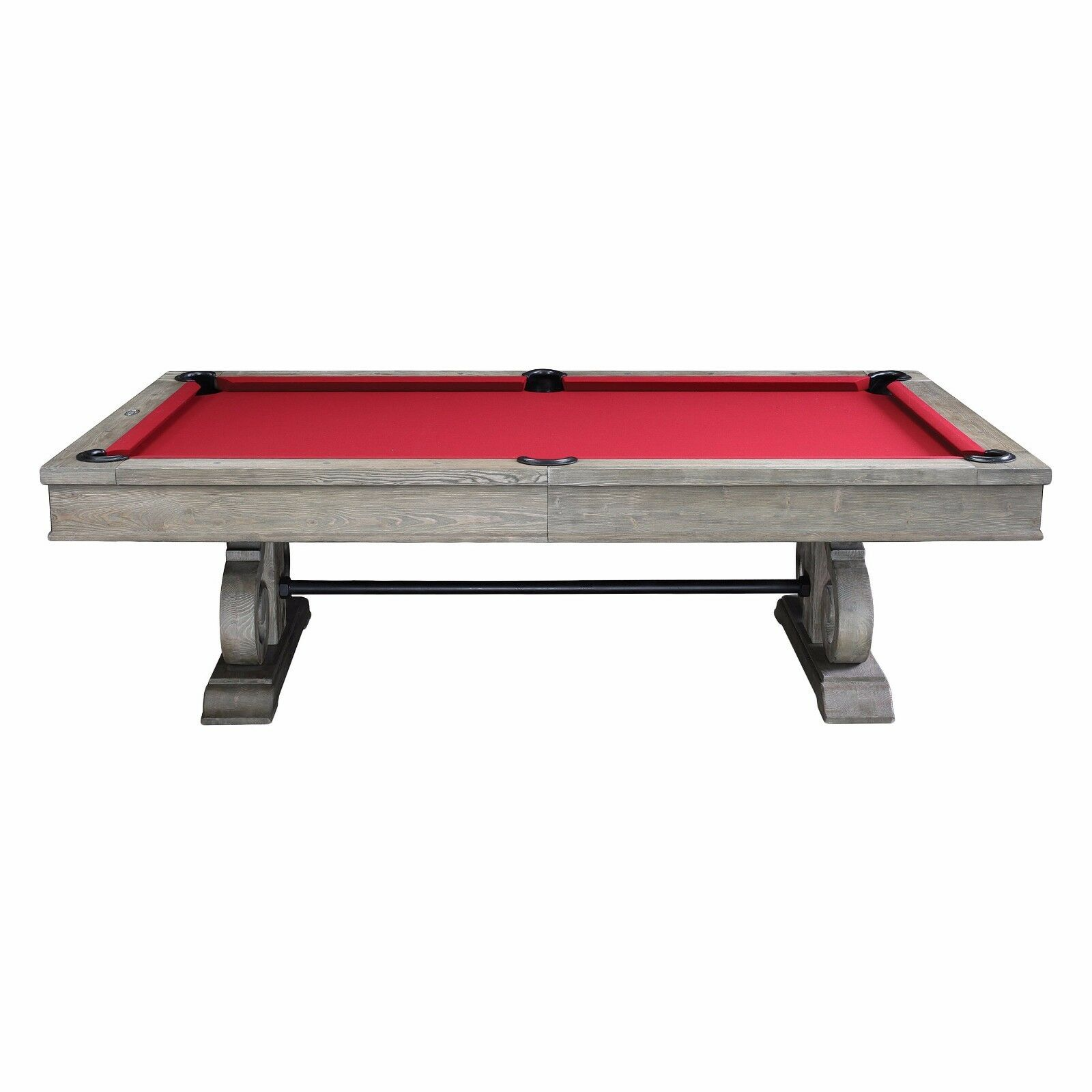 8' Barnstable Slate Pool Table w/ Weathered Oak Finish - Dining Top Included