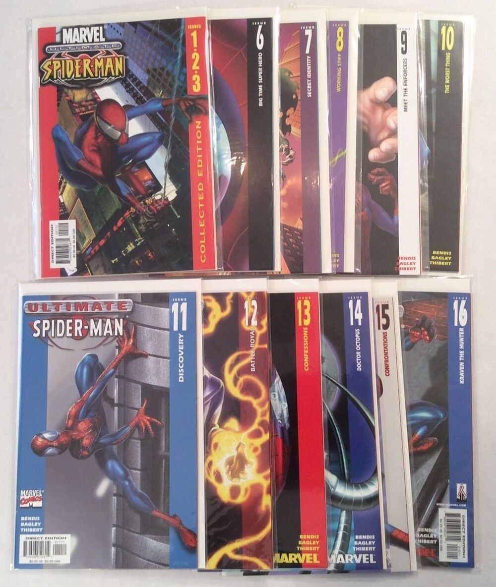 Ultimate Spider-man Series 1 Huge Lot Run Marvel Comics NM Brian Bendis
