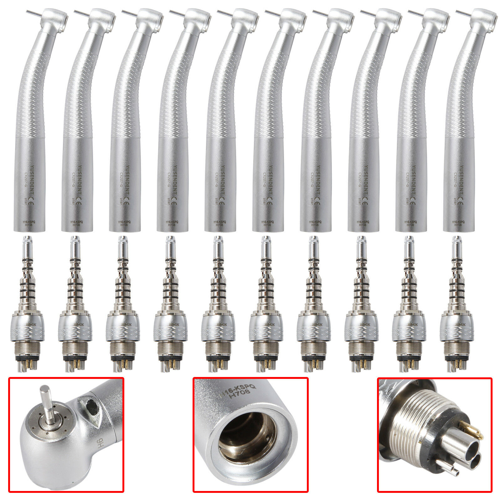 10X YUSENDENT Dental Fiber Optic Handpiece W/ KAVO Multiflex Quick Coupling -GK