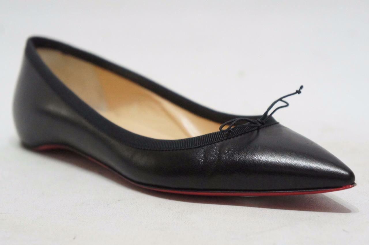 CHRISTIAN LOUBOUTIN SOLASOFIA POINTY TOE FLAT SHOES 35.5/5