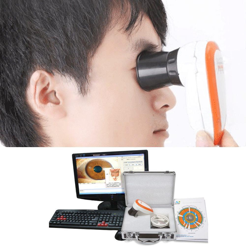 5.0MP USB Iriscope Iris Analyzer Iridology Camera Pro Software Eyes + Carry Case