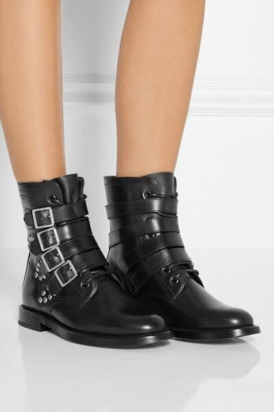 YSL Yves Saint Laurent Rangers Runway Ankle Combat Boots Shoes 36 6