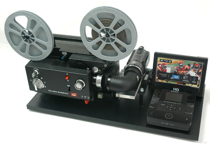 Elmo Movie Projector Telecine Video Transfer Dual 8   Built-In PAL-HD Camera