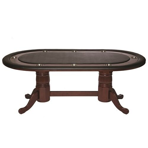 7' Poker Table w/ Dining Top Conversion Wine Finish and Free Shipping