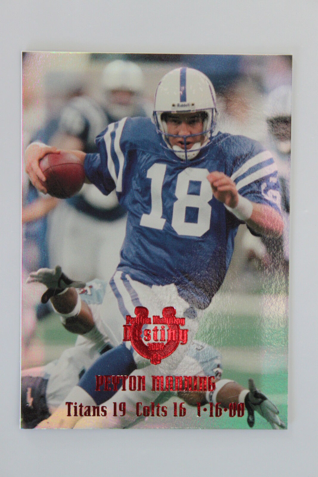 PEYTON MANNING Denver Broncos Colts 2000 CE EDGE RARE DESTINY #'d 1/25  1/1 MINT
