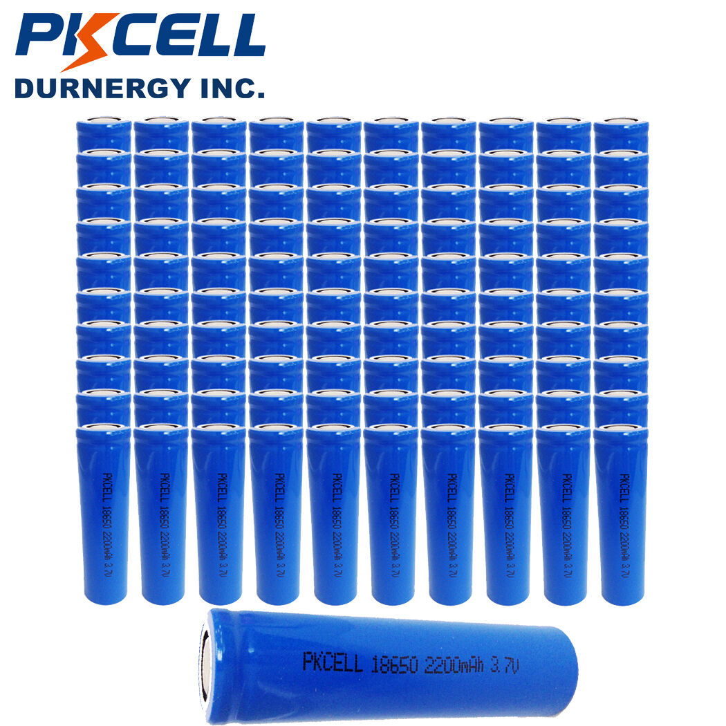 600x Wholesale PKCELL 18650 Rechargeable Li-ion Battery 3.7V Genuine 2200mAh