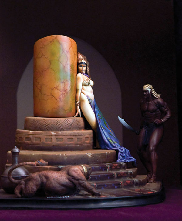EGYPTIAN QUEEN - Polystone Statue by Frank Frazetta 2008 Dark Horse Limited rare
