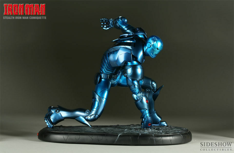 SIDESHOW IRON MAN STEALTH ARMOR POLYSTONE STATUE 1:4 SCALE COMIQUETTE w/LIGHTS
