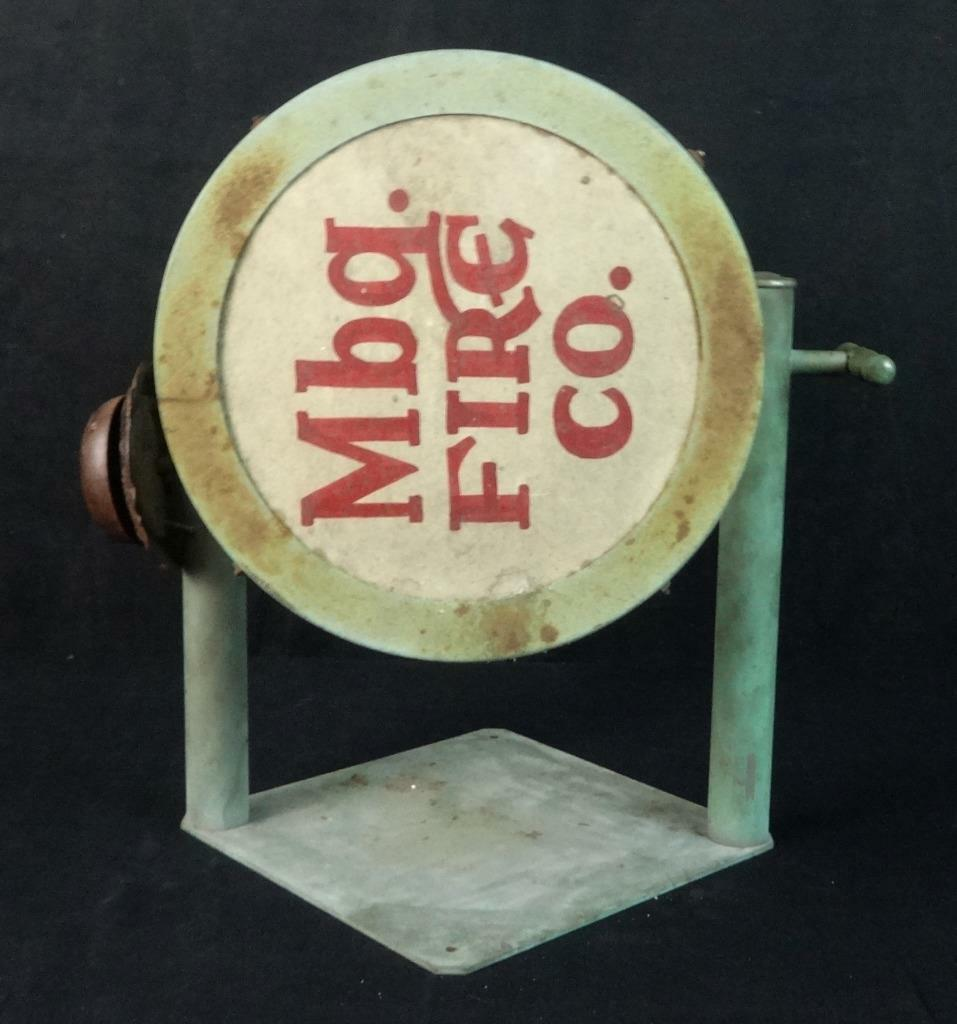 Antique Muhlenberg Fire Co. Chuck-A-Luk Dice Cage in Original Paint w/Bell RARE