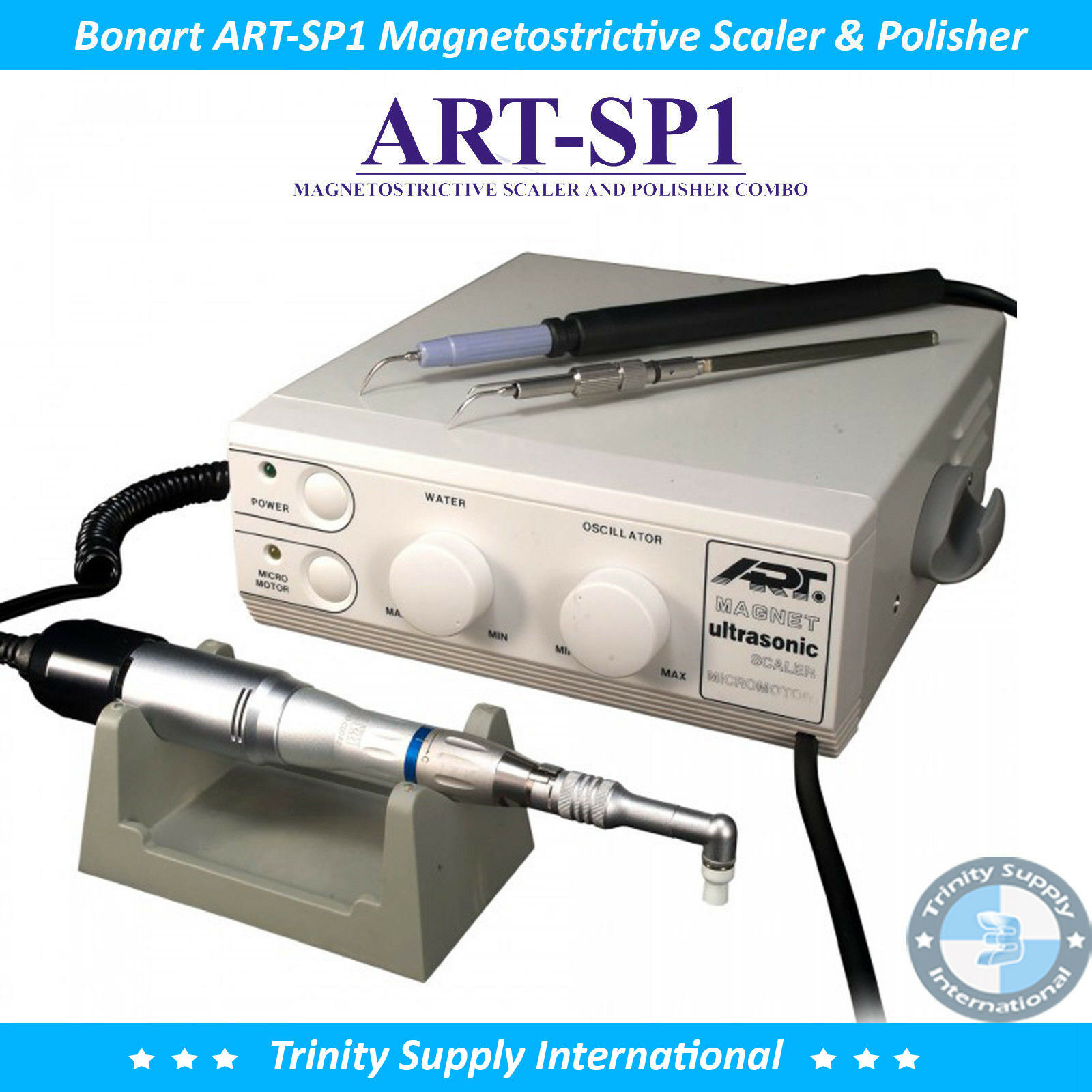 BONART ART-SP1 MAGNETOSTRICTIVE SCALER AND POLISHER COMBO HEAVY-DUTY FOR VET NEW