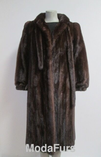 Women's Sz 10 SUPERB Natural Canadian Mink Fur Coat