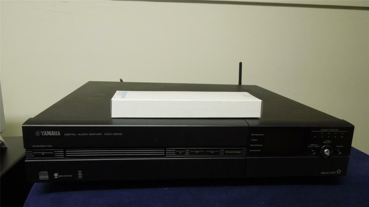 MUSICCAST YAMAHA MCX-2000 160GB MUSIC SERVER SHIPS WORLDWIDE WITH REMOTE CONTROL