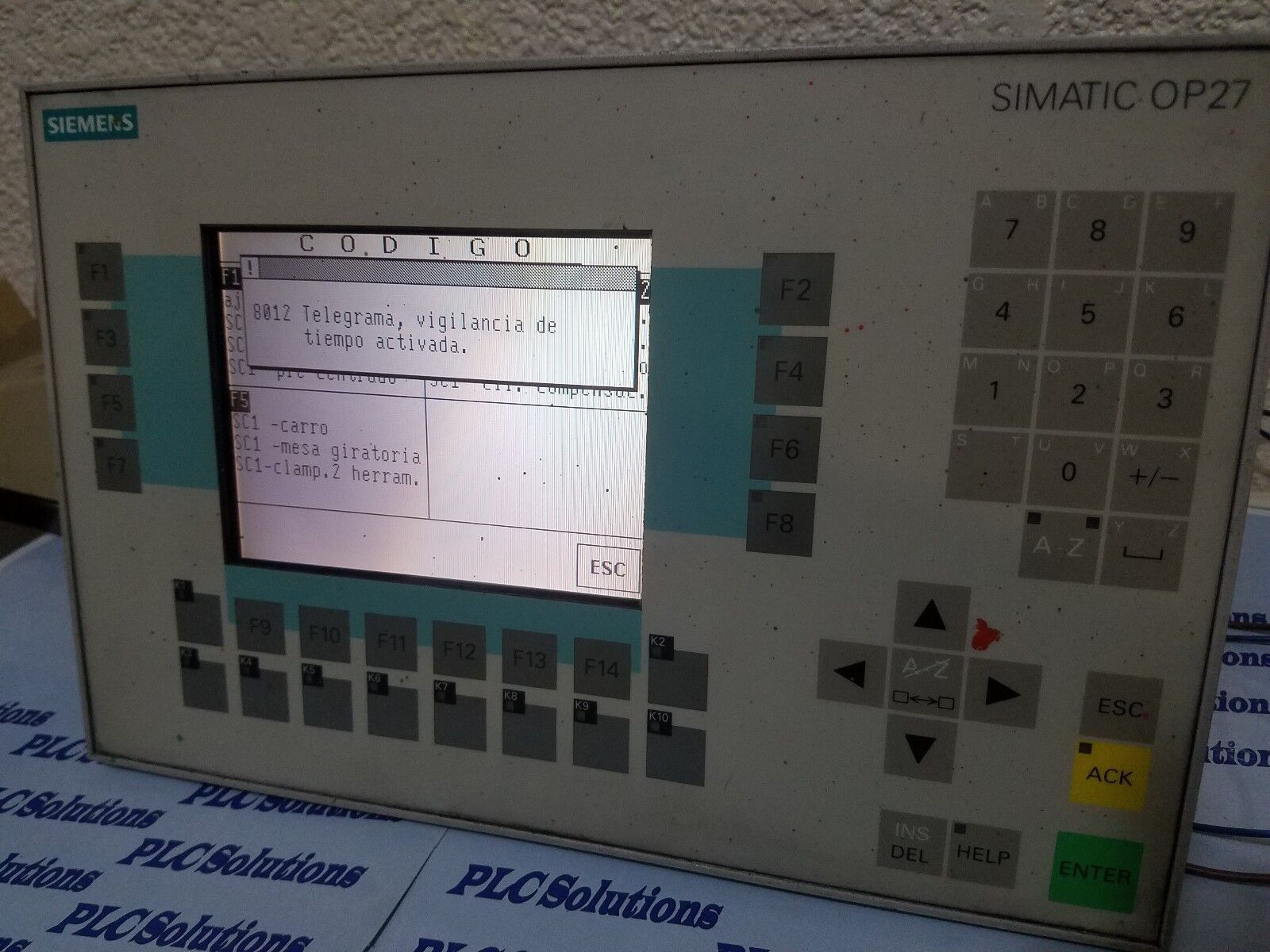 SIEMENS  TOUCH OPERATOR PANEL OP27 COLOR 6AV3627-1LK00-1AX0 with 6AV3672-1CA01