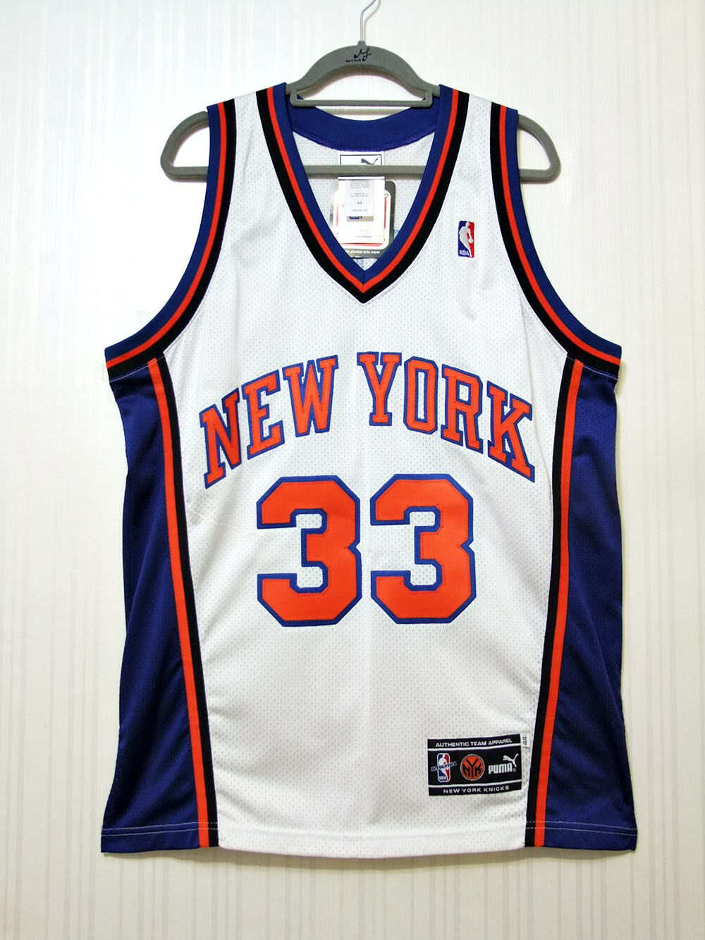 Patrick Ewing 2000 New York Knicks Puma Authentic Home Jersey Size 44 NWT