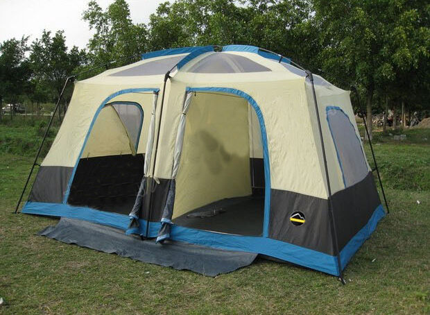 6-8 Persons Outdoor Multi-FunctionAgainst Storm UV Protection Camping Tent