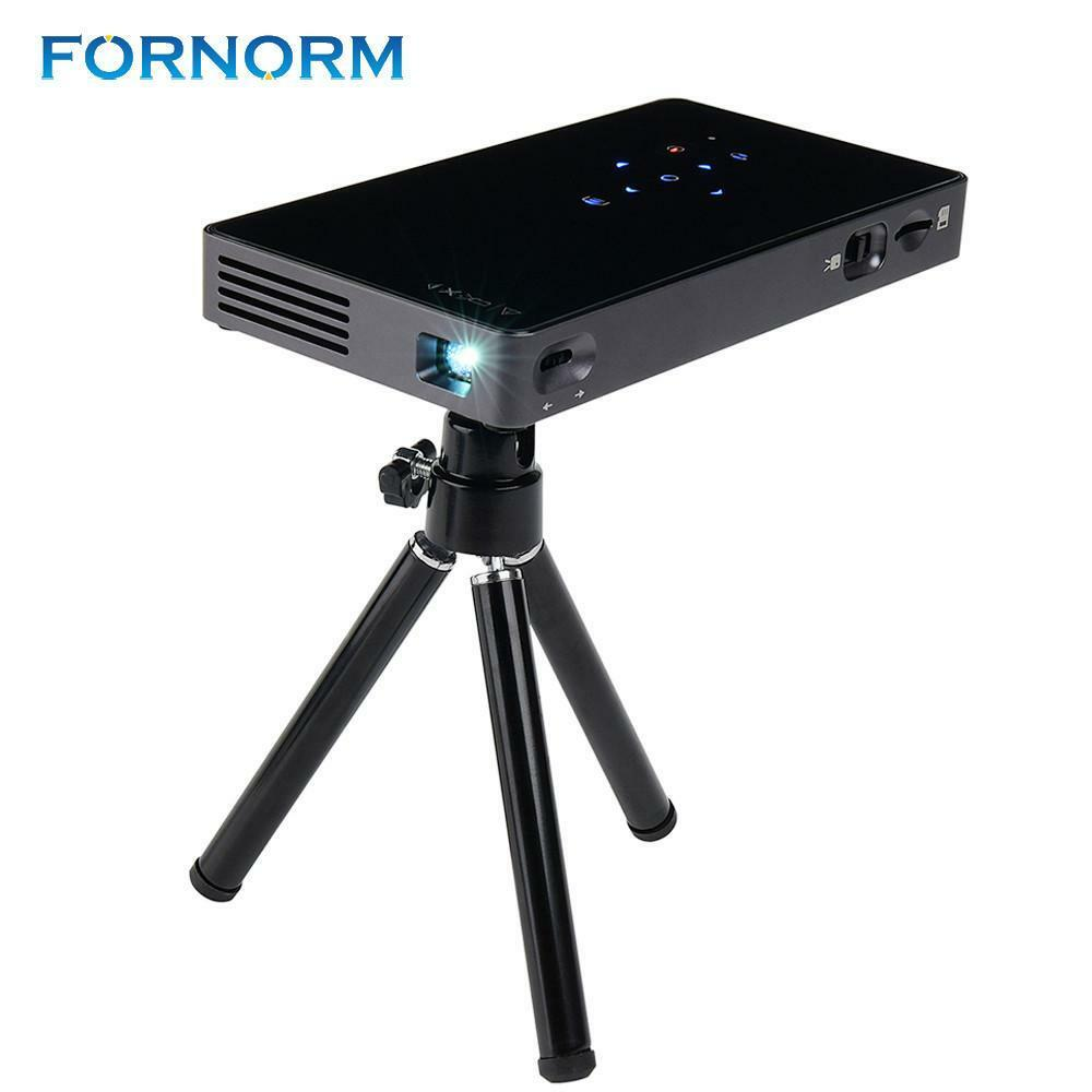 FORNORM Mini Wifi Smart DLP Projector Full HD Projector Built in 5000mAh Battery