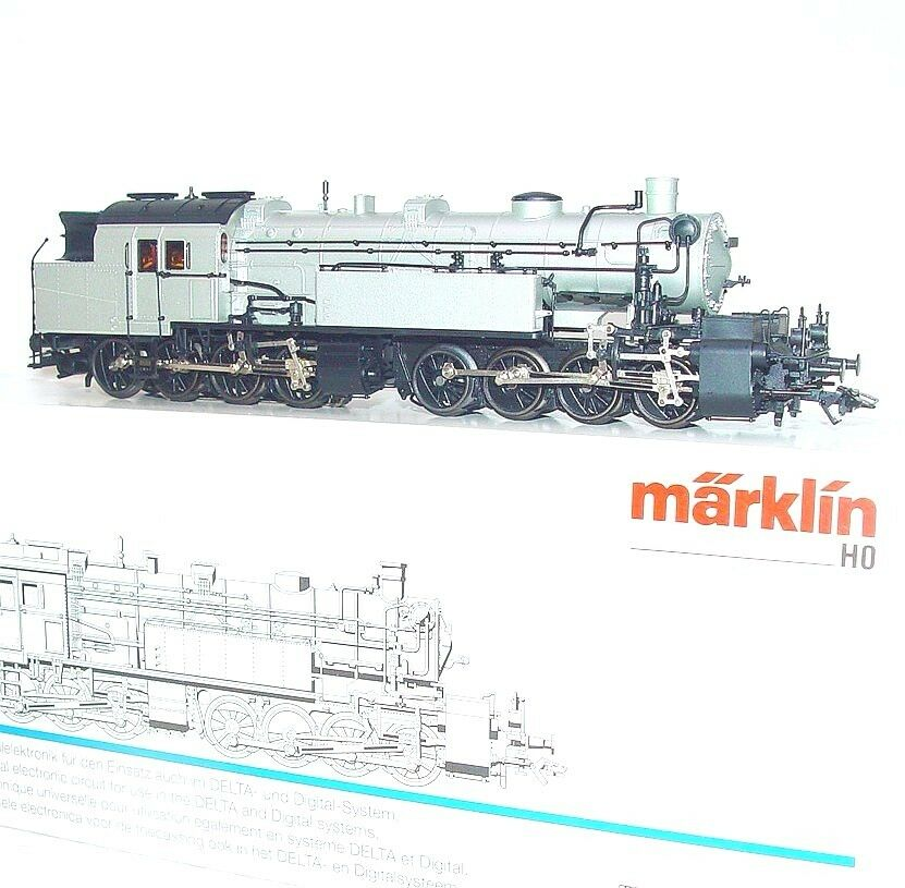 Marklin AC HO 1:87 German DRG Silver BR-96 Gt 2 4/4 MALLET STEAM LOCOMOTIVE MIB!