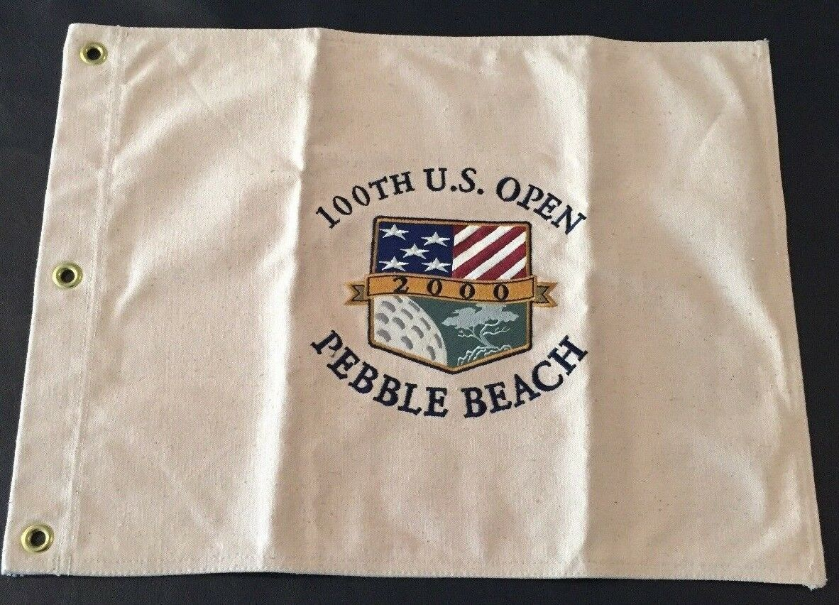 2000 United States Open canvas pin flag tiger woods jack nicklaus pga british 1