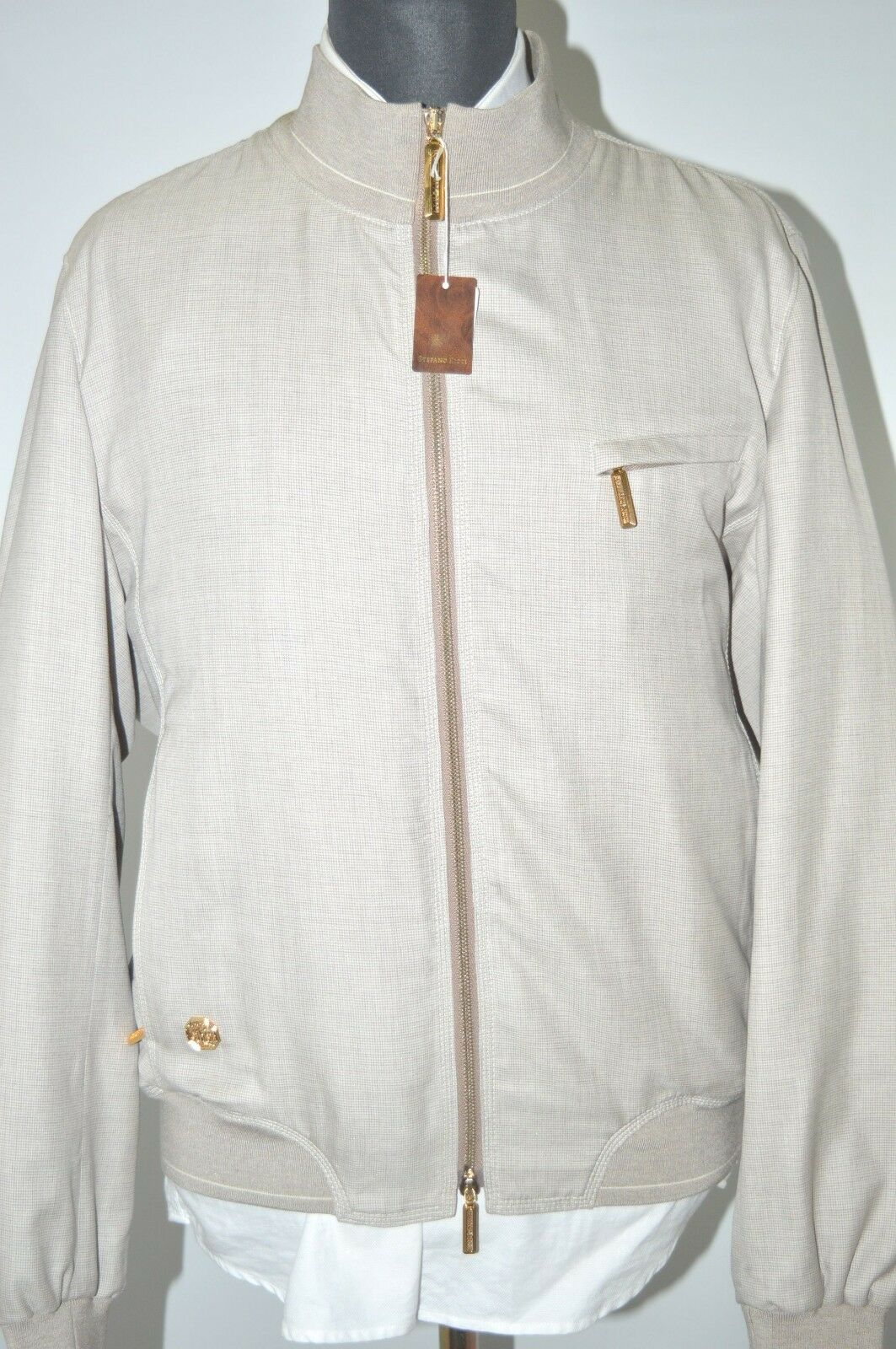 NEW 7550,00 $ STEFANO RICCI  Outwear Wool Silk Size Us M Eu 50 (G15)