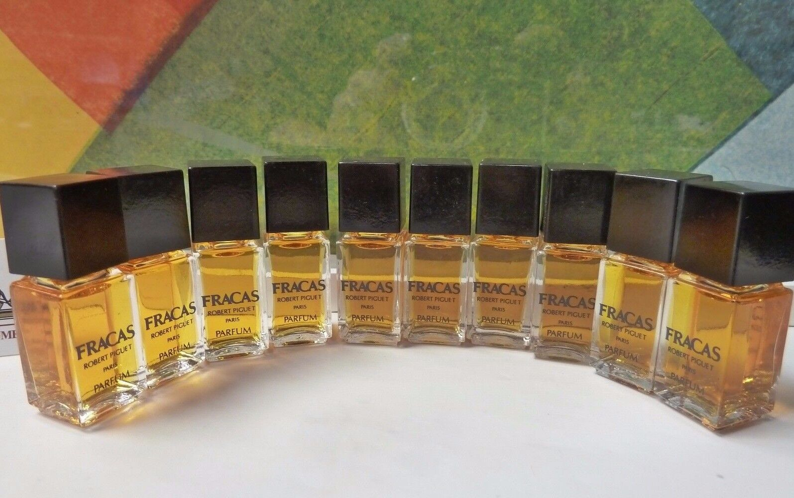 LOT OF 10 OLD FORMULA FRACAS PARFUM 4 ML / 0.13 OZ FULL CONCENTRATED, WINTAGE
