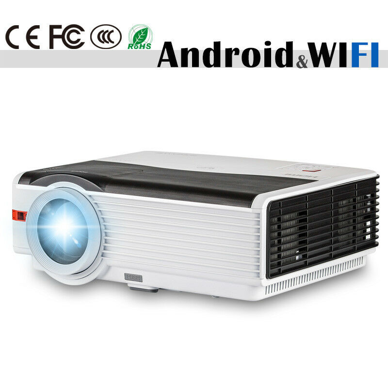 Android Wifi LCD Home Theater Projector 1080p Wireless Movie Family Party HDMI