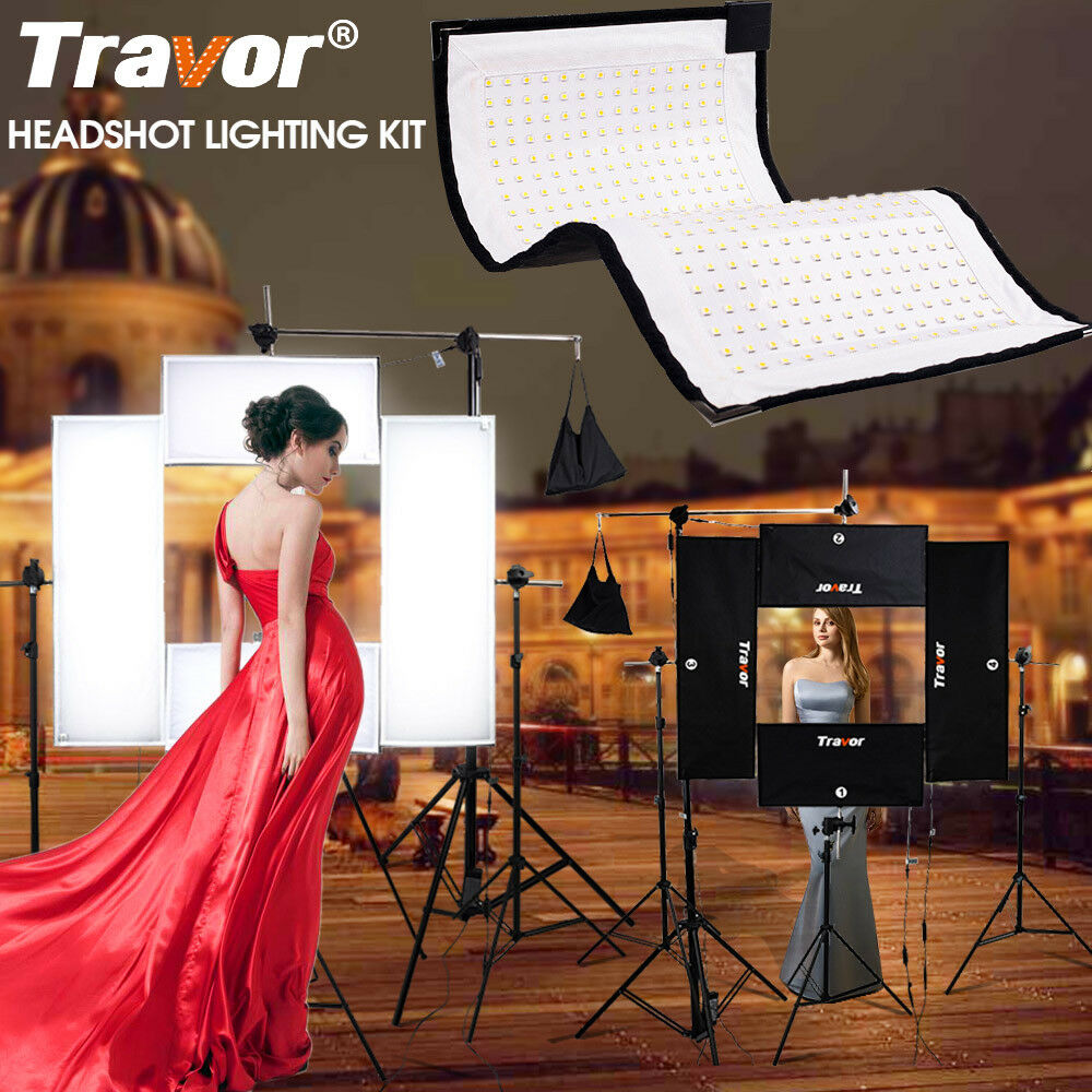 Travor Flexible LED Video Lighting Panel Studio Camera Photography Light Kit Set