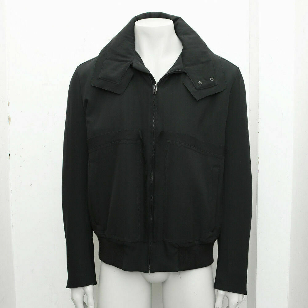 New Maison Martin Margiela Black Bomber Jacket With Raw Edge Seams BNWT RRP £745